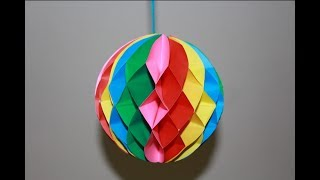 Download How to make a Paper Honeycomb Ball | Origami paper ball origami | Top Paper Crafts 2018 Video
