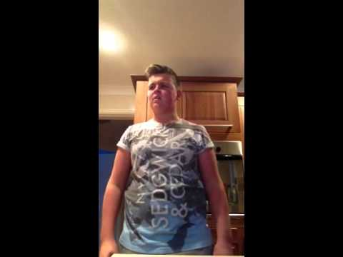 Boy getting angry singing i will always love you (funny as)