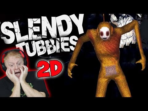 SLENDYTUBBIES 2D  OUTSKIRTS NIGHT MAP ( COLLECT 25 ) - LAA LAA IS MESSING WITH MY MIND