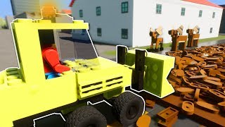 GROSS JOBS IN LEGO CITY? - Brick Rigs Multiplayer Gameplay - Lego City Roleplay