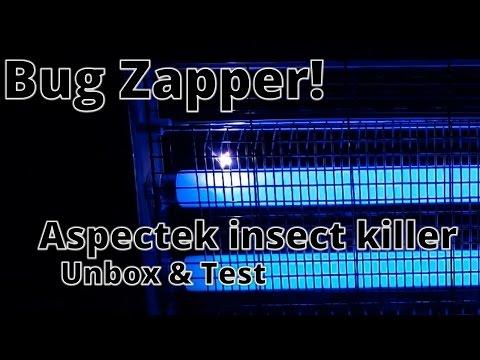 Aspectek Indoor Bug Zapper: Unbox & Test - This bug zapper actually works