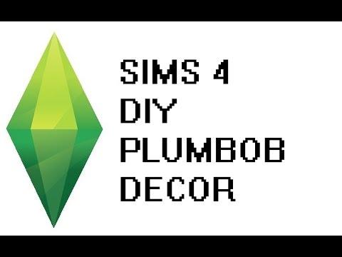 DIY Sims 4 Plumbob Decor