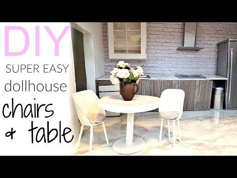 DIY: very easy dollhouse chairs & table