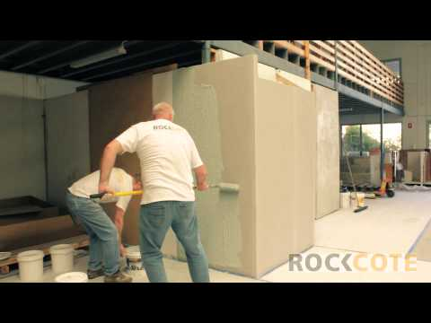 Rendering Cement Sheet and Blueboard Walls with Rockcote