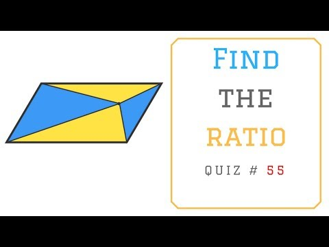 Math Puzzles with Answers in 60 seconds - Find the Ratio ?