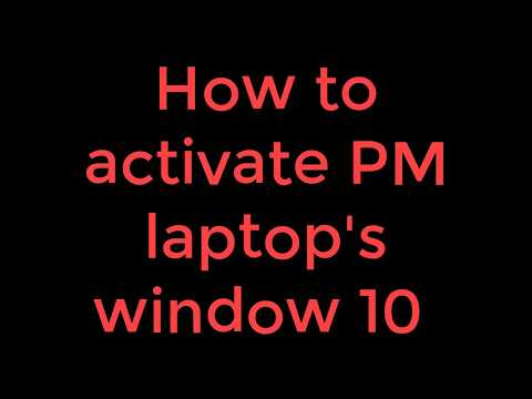 activate window of haier Y11C prime minister laptop