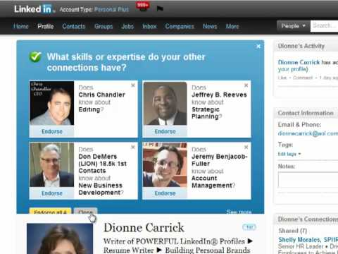 LinkedIn Endorsements and Skills & Expertise