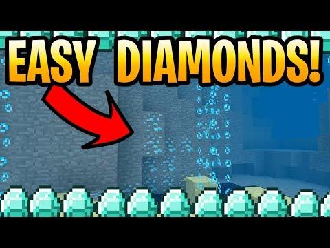 Microsoft How To Find Diamonds Quick! Update Aquatic Tutorial PE, Java, Xbox & Switch