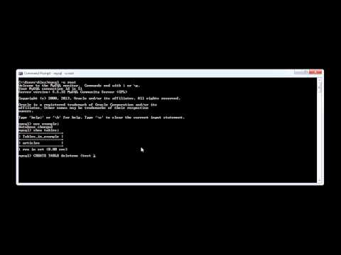 MySQL: Deleting Tables