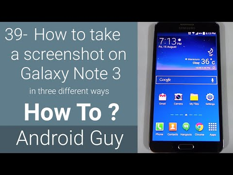 How to take screenshot on Galaxy Note 3 in three different ways ?