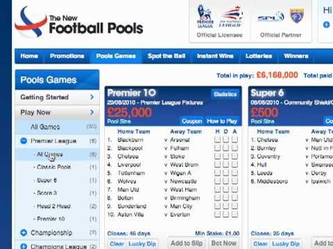 Choosing a Football Pools Online Betting Game