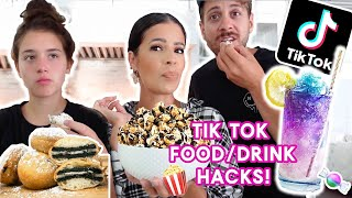 WE MADE THE MOST VIRAL TIK TOK FOOD & DRINK  HACKS!!!