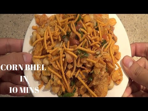Cornflakes bhel chat, snacks recipe