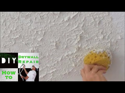 How to use a sponge to match knockdown texture on a ceiling repair