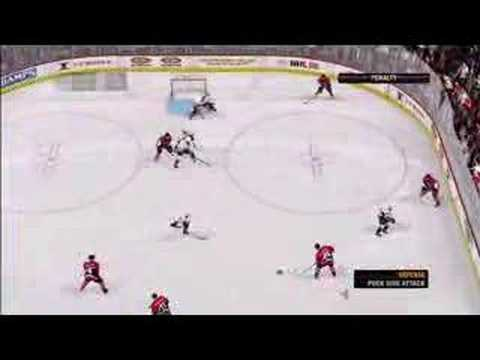 NHL 08 Gameplay Sens vs. Ducks