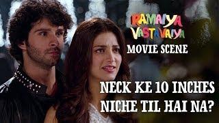 Neck Ke 10 Inches Niche Til Hai Na? - Ramaiya Vastavaiya Scene - Girish & Shruti