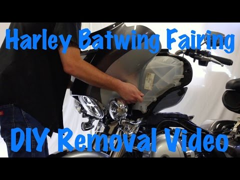 Harley Touring Batwing Fairing Removal Street Glide, Electra, Ultra | Motorcycle Biker Podcast