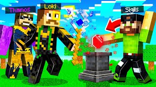 Using LOKI to STEAL INFINITY STONES in Insane Craft