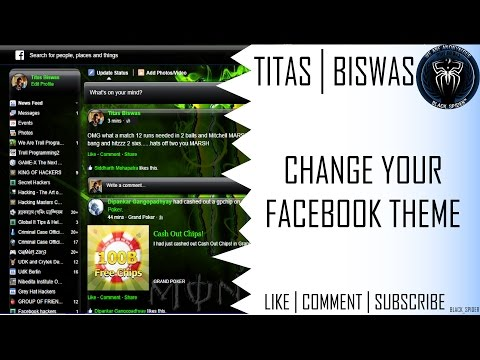 How to - Change your Facebook theme