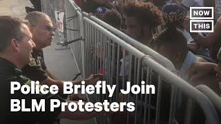 Police Join Protesters Seeking Justice for George Floyd | NowThis