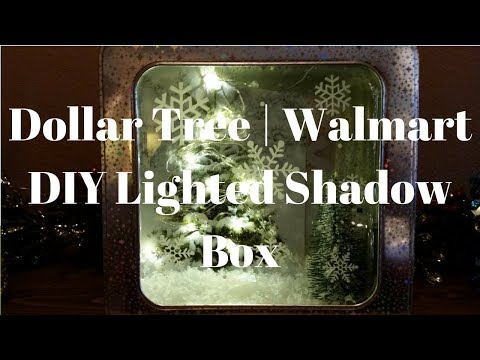 Dollar Tree | Walmart DIY Christmas Lighted Shadow Box