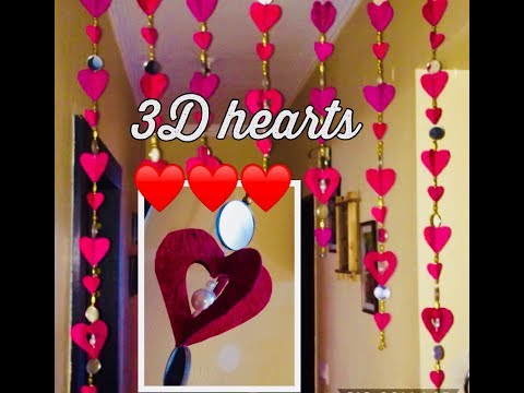 How to make 3D heart door hangings for this 2019 valentine