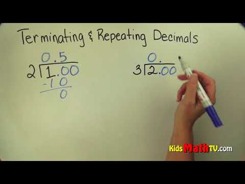 Math video on terminating and repeating decimals