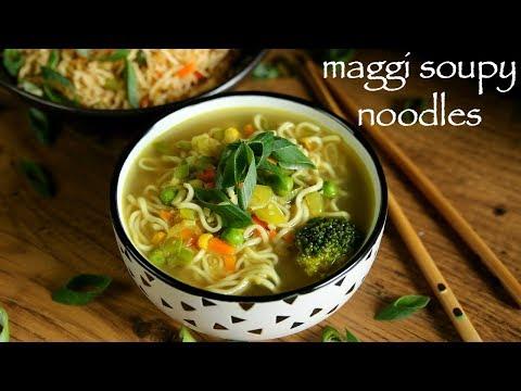 noodle soup recipe | maggi soupy noodle recipe | how to make maggi soup recipe