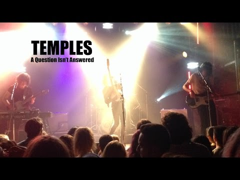 TEMPLES - A Question Isn't Answered - LIVE - Toronto - EPIC!