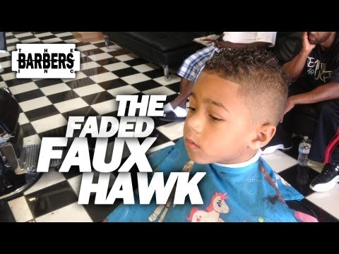 HOW TO: Kid's Faded Faux Hawk / Mohawk | Men's Haircut Tutorial | HD - 1080 p