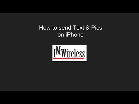 How to send a text and a picture message on an iPhone