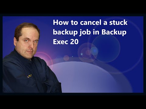 How to cancel a stuck backup job in Backup Exec 20
