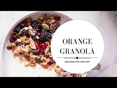 Orange Granola | Heavenlynn Healthy for Kitchen Stories