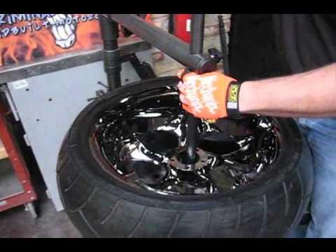 Scratch proof tire change on a custom rim