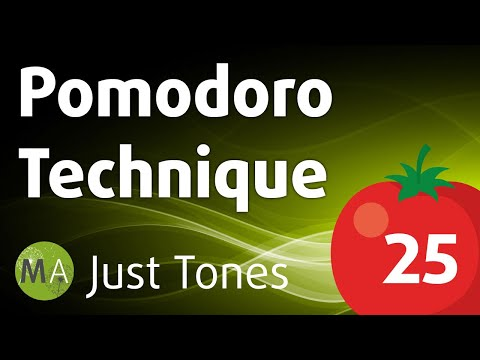 Pomodoro Technique 25-Minute High-Focus Work Intervals - Isochronic Tones (Just Tones)