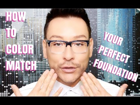 HOW TO COLOR MATCH YOUR PERFECT FOUNDATION PRO MAKEUP VIDEO TUTORIAL- mathias4makeup