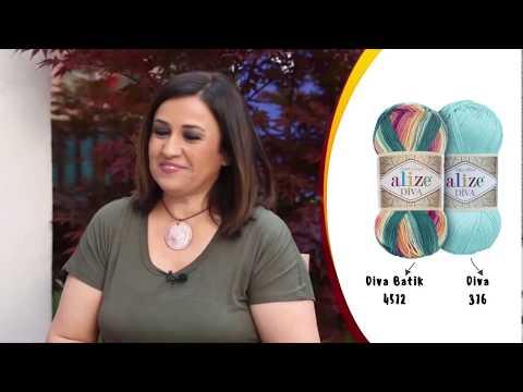 Alize Diva ve Diva Batik ile Supla Yapımı-Making Service Plate with Alize Diva and Diva Batik