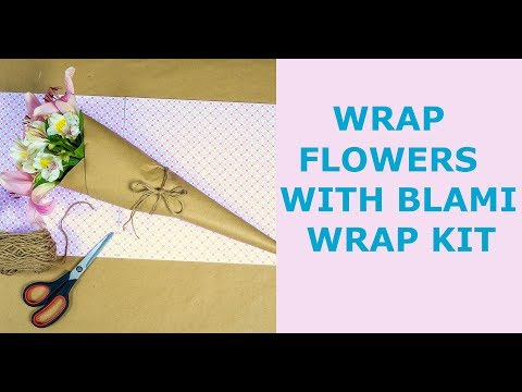 How to use BLAMI WRAP KIT with flowers - wrapping paper (30''x100ft) and twine (200ft)
