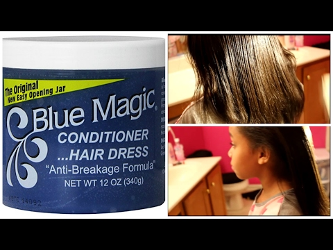 HOW I GREASE MY DAUGHTER'S SCALP USING BLUE MAJIC