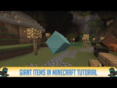 Epic Minecraft Commands: GIANT ITEMS! | 1.8 Only! | Command Block Tips & Tricks | 2018