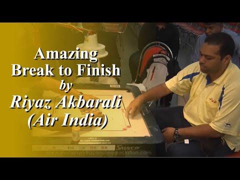 Amazing White Slam by Riyaz Akbar Ali (Air India) in Men's Single QUARTER FINAL-4: Set-2
