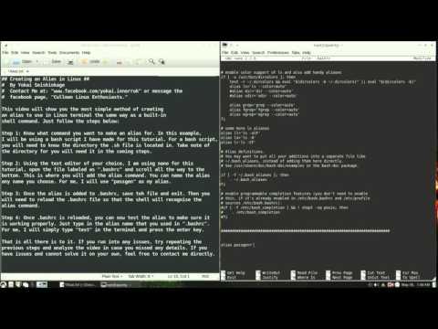 Linux Tutorial - How to Create an Alias