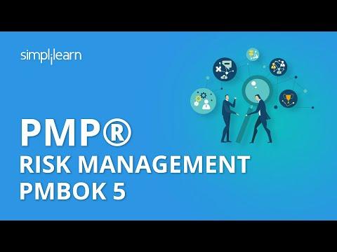PMP® Risk Management PMBOK 5 | PMP® Training Videos | Project Management Tutorial  | Simplilearn