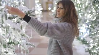 Critics Bash First Lady Melania Trump's White House Christmas Decorations