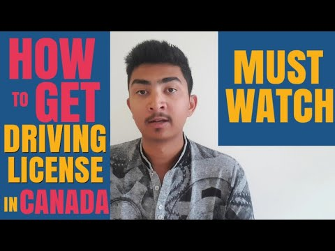 How to get a driver's license In CANADA(Winnipeg)? Punjabi Student In CANADA