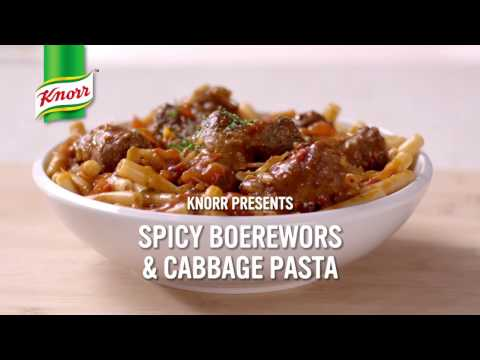 #MzansiPasta: Spicy Boerewors and Cabbage Pasta