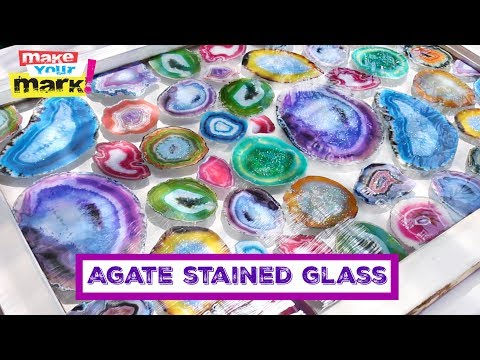 Geode DIY:  Faux Agate Stained Glass