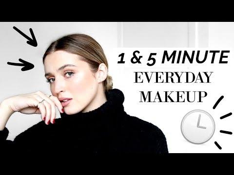 ⏱ 1 & 5 MINUTE EVERYDAY MAKEUP LOOKS ⏱   allanaramaa