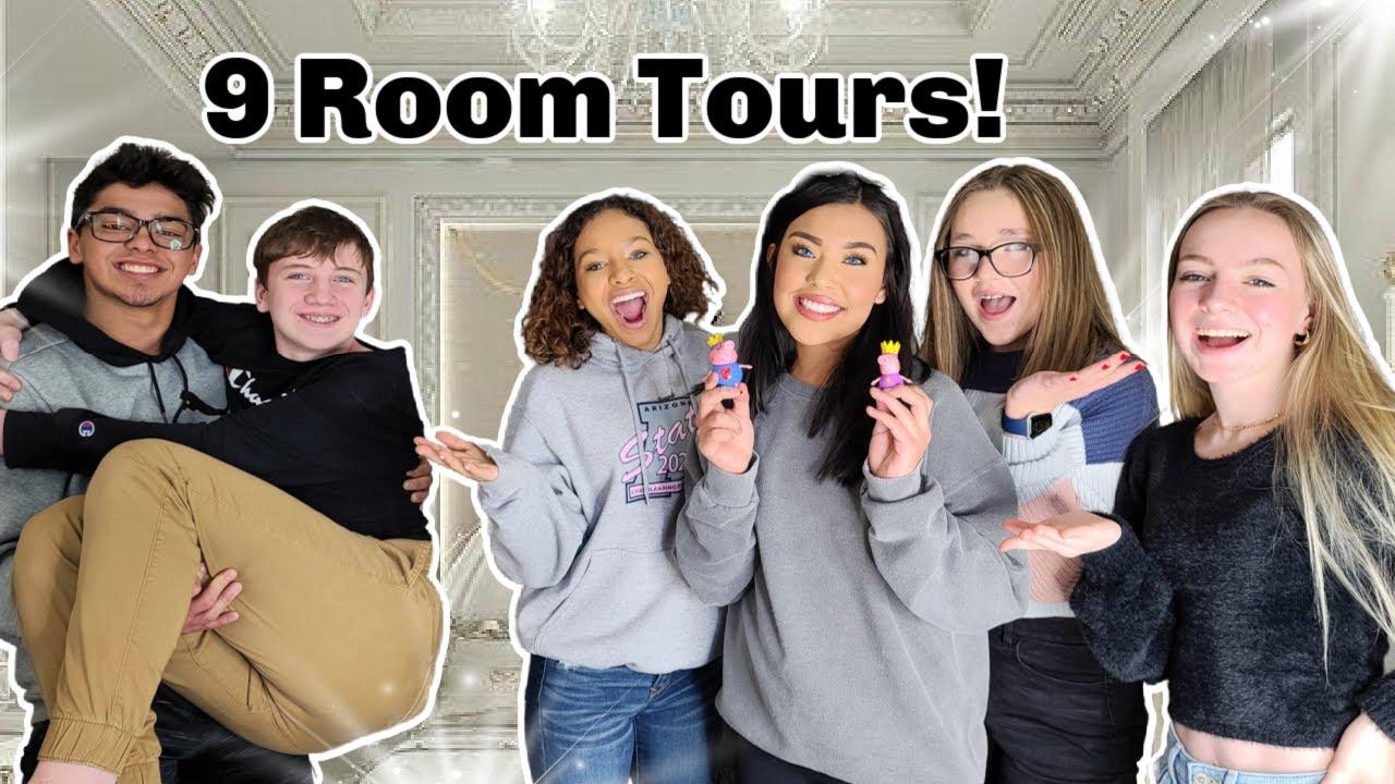 9 BEDROOM TOURS TEENAGERS