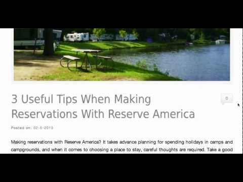 3 Useful Tips When Making Reservations With Reserve America